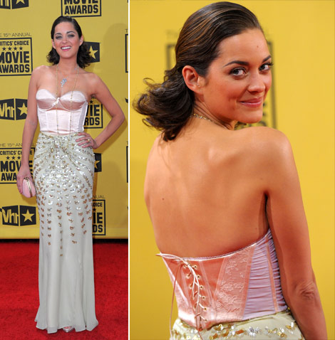 Marion Cotillard Dior dress Critics Choice Awards 2010
