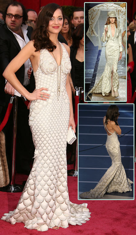 Marion Cotillard in Jean Paul Gaultier for 2008 Oscar