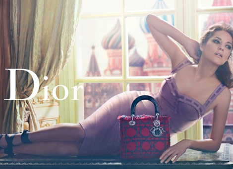 Marion Cotillard Lady Dior Russian ad campaign spring summer 2011