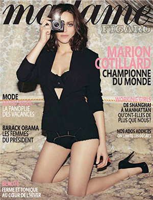 Marion Cotillard Madame Figaro January 09 cover