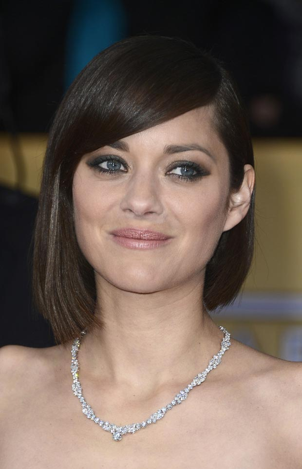 Marion Cotillard makeup jewelry 2013 SAG Awards