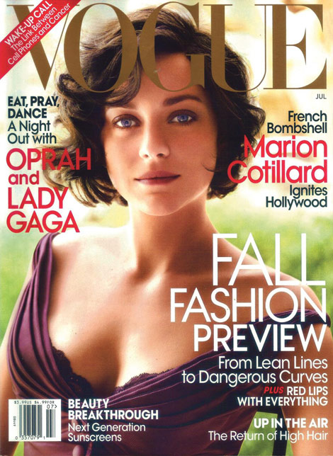 Marion Cotillard Vogue US July 2010 cover