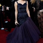 Marisa Tomei blue Charles James dress 2011 Oscars 1