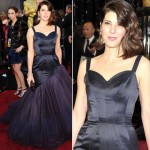 Marisa Tomei blue Charles James dress 2011 Oscars
