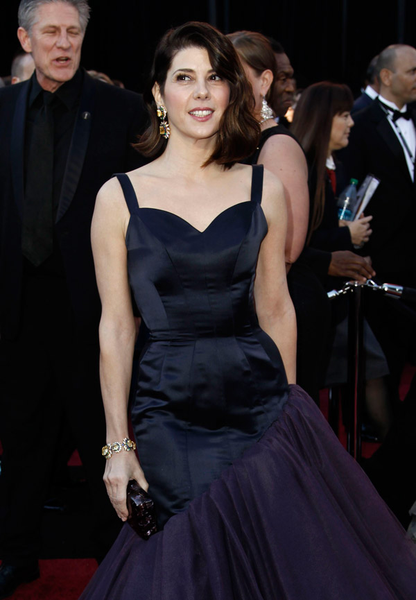 Marisa Tomei blue Charles James dress 2011 Oscars 2