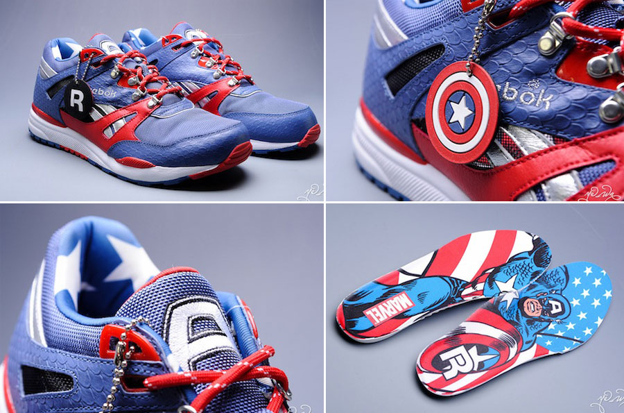 Marvel Reebok sneakers Captain America