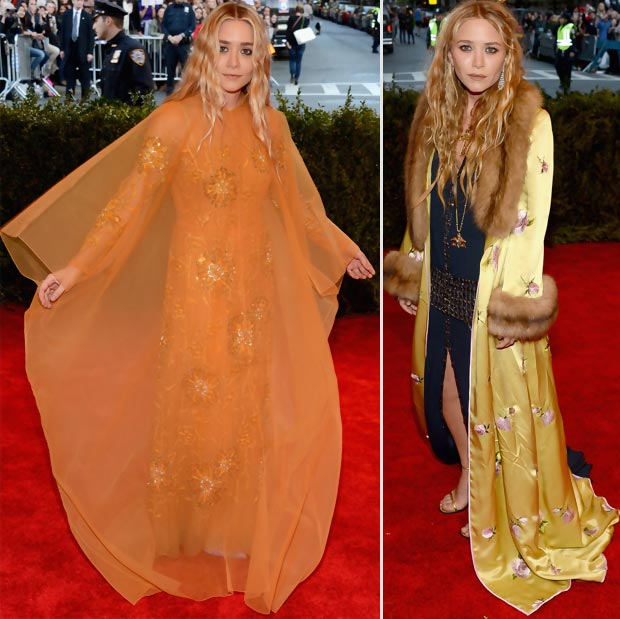 Mary Kate Ashley Olsen outfits 2013 Met Gala