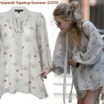 Mary Kate Olsen Barbara Hulanicki Topshop dress