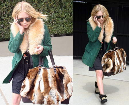 Mary Kate Olsen Fur Bag