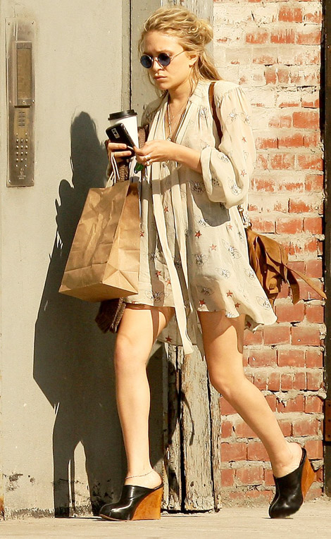 Mary Kate Olsen Hulanicki Topshop Summer09 dress