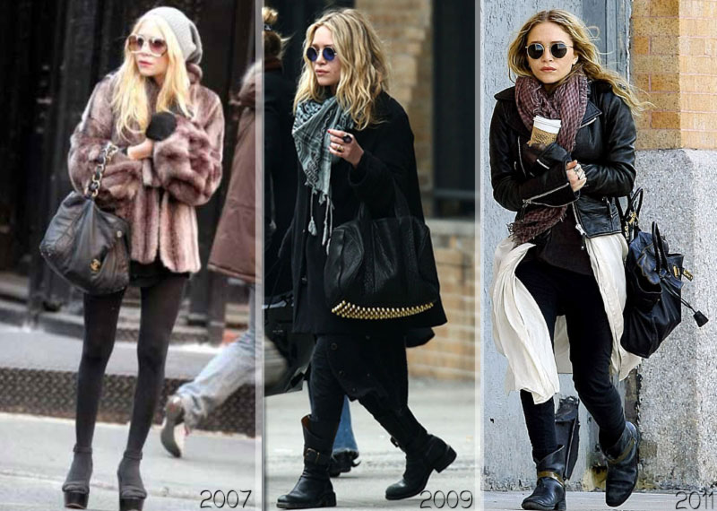 Mary Kate Olsen weight over the years 2007 2011