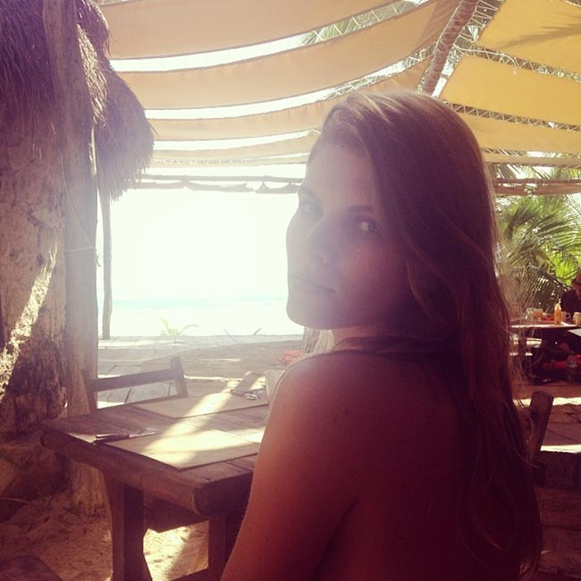 Maryna Linchuk beach holiday Tulun