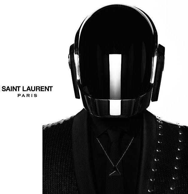 masked fashion Daft Punk Saint Laurent Paris