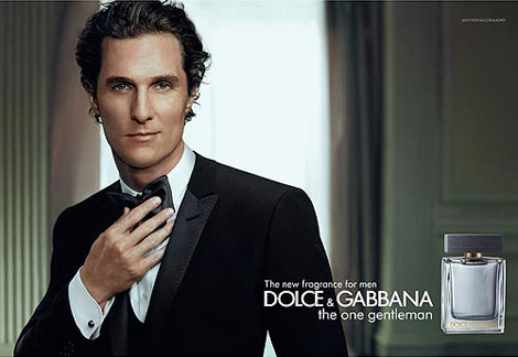 Matthew McConaughey Is Dolce And Gabbana's The One Gentleman. Ad Campaign