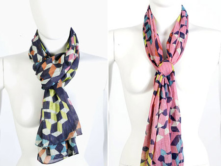 Matthew Williamson Butterfly scarf blue pink