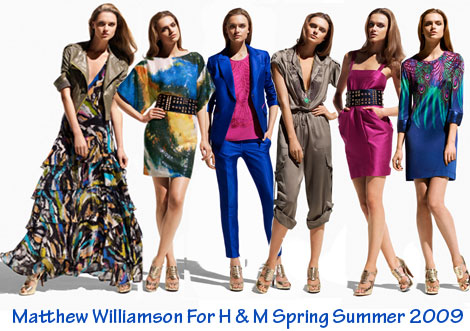 Matthew Williamson H and M collection ss09
