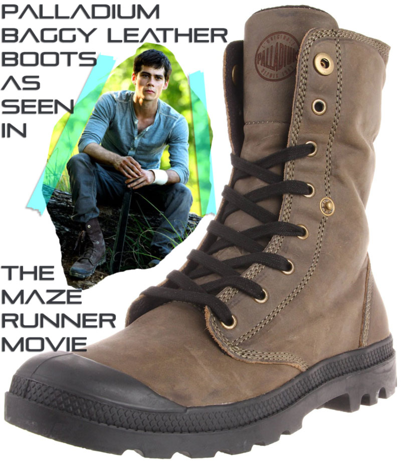 Maze Runner Thomas brown boots Palladium Baggy Leather