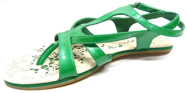 McQueen Puma sandals Celula green
