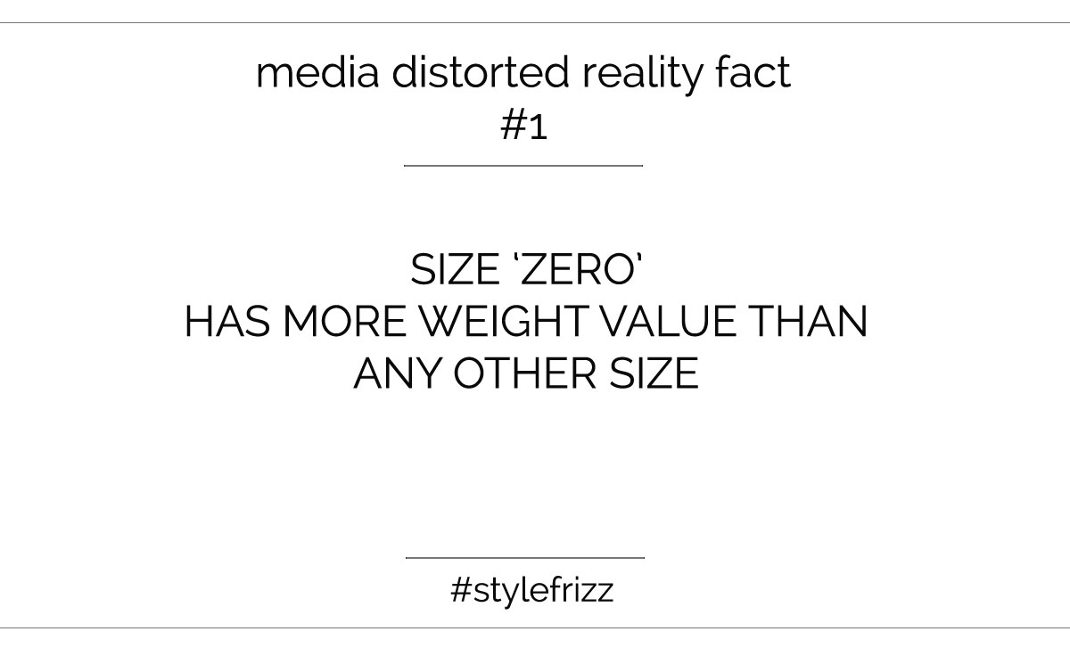 media distorted weight reality