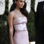 Megan Fox Armani Prive dress Golden Globes 2011 detail