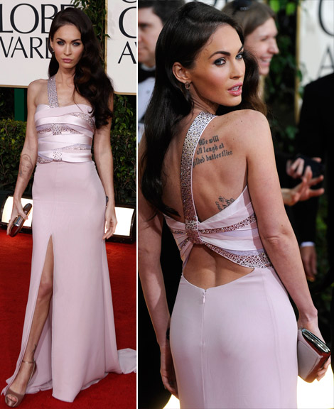 Megan Fox Armani Prive dress Golden Globes 2011