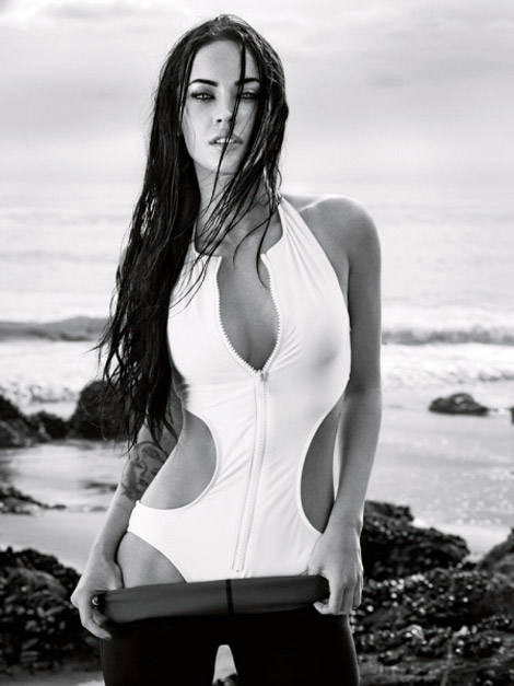Megan Fox Elle June 2009 beach