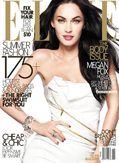 Megan Fox Elle June 2009 cover