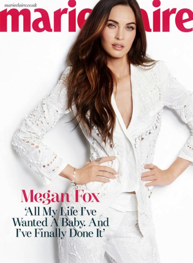 Megan Fox in white Marie Claire UK