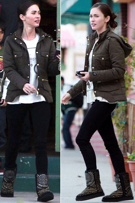 Megan Fox Loves Jimmy Choo UGG Boots Too