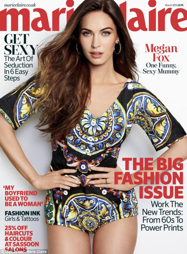 Megan Fox Marie Claire UK March 2013 cover