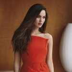 Megan Fox red dress Marie Claire pictorial