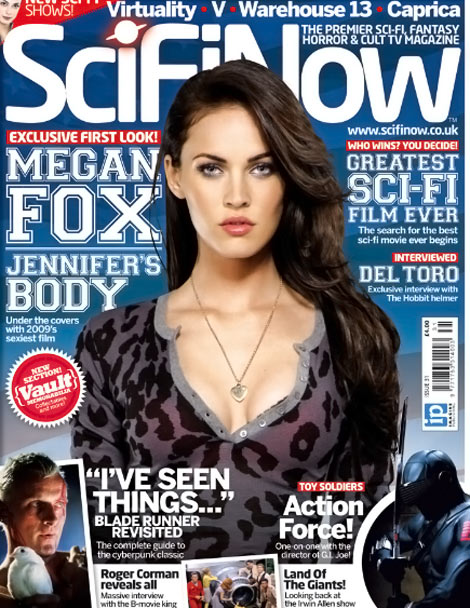 Megan Fox SciFiNow magazine cover