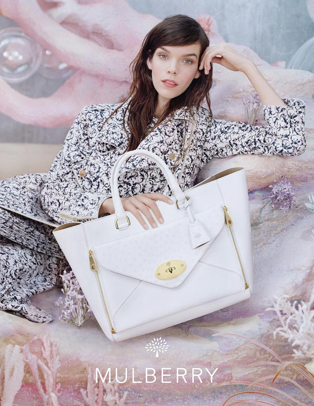 Meghan Collison Mulberry bag Spring 2013 ad