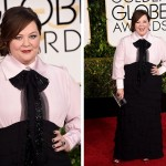 Melissa McCarthy 2015 Golden Globes Red Carpet