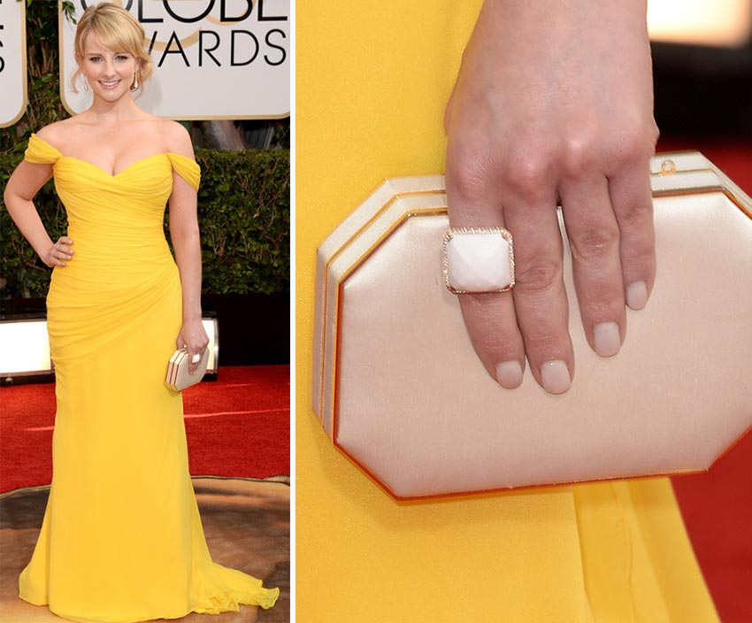Melissa Rauch nails 2014 Golden Globes