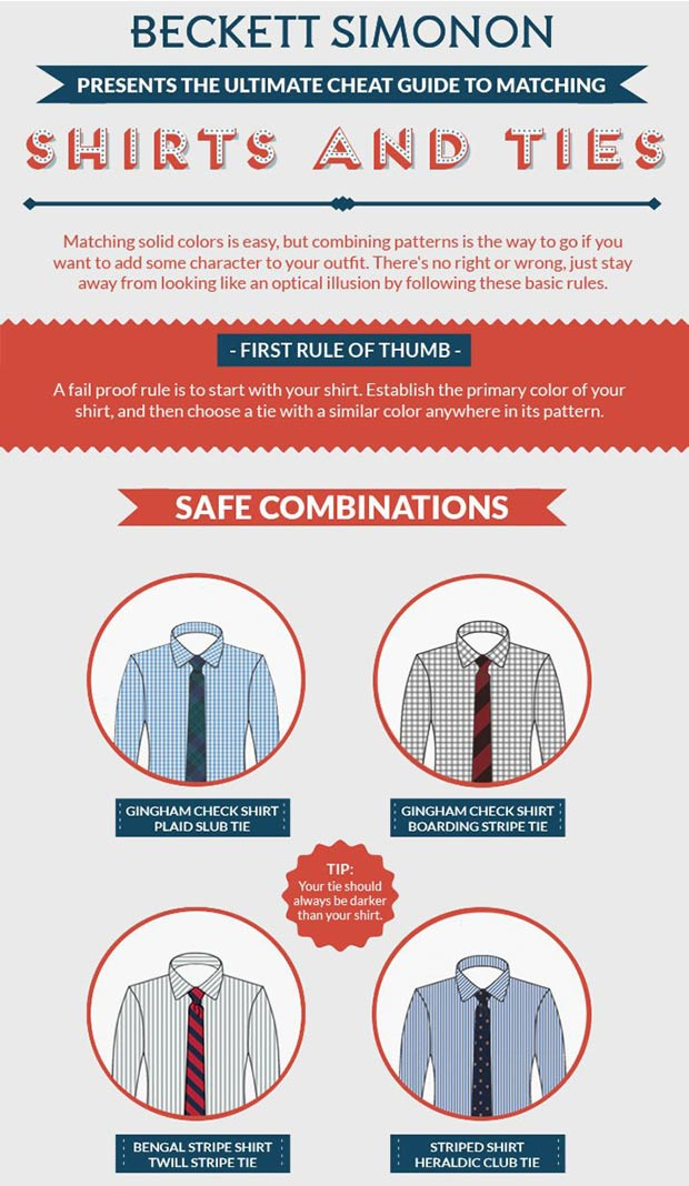Men s wardrobe how to mix shirts and ties