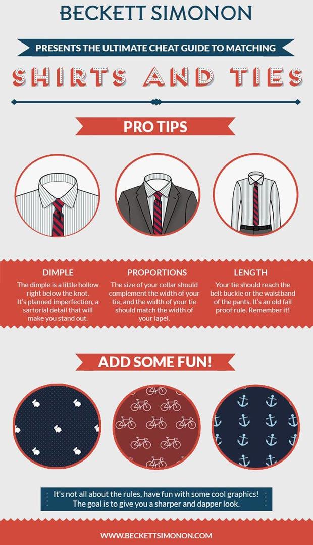 Men s wardrobe how to mix shirts ties