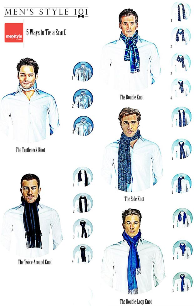 Men s wardrobe how to tie a scarf