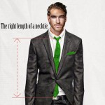 Men s wardrobe the right length of tie