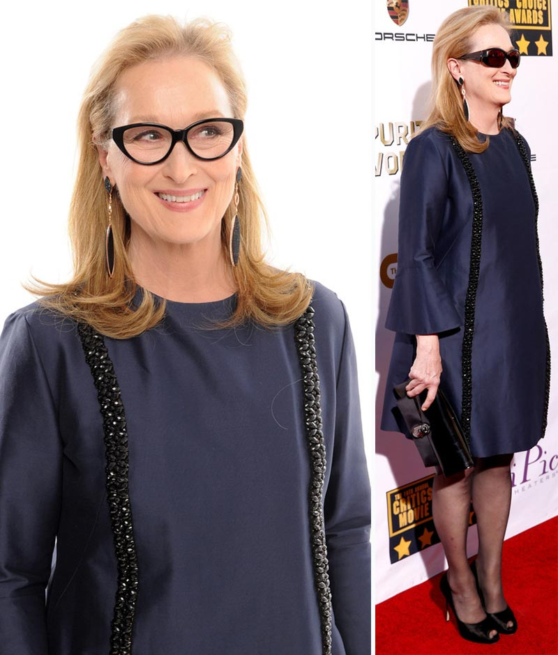 Meryl Streep blue Stella McCartney dress Critics Choice Awards