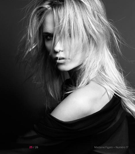messy hairdo static Natasha Poly Madame Figaro