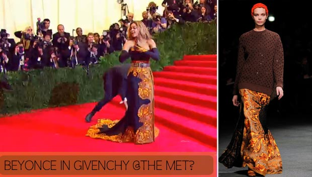 2013 Met Gala Fashion: Beyonce In Givenchy Dress