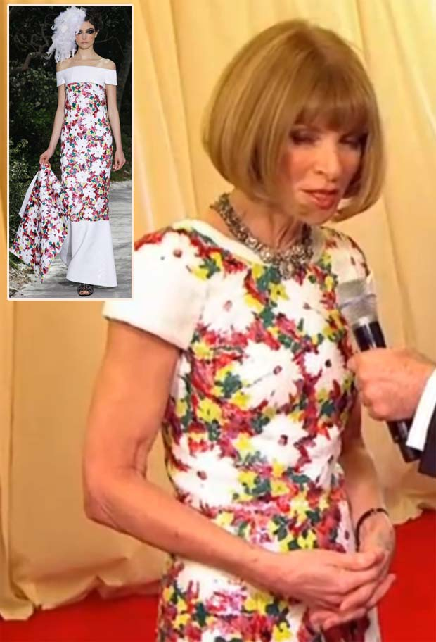 Met Gala 2013 Red Carpet Anna Wintour Chanel Couture