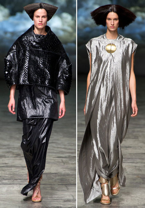 metallic fabric Rick Owens spring 2013