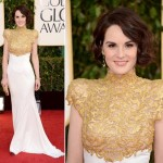 Michelle Dockery Alexandre Vauthier white dress 2013 Golden Globes