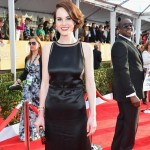 Michelle Dockery black cutout dress 2013 SAG Awards