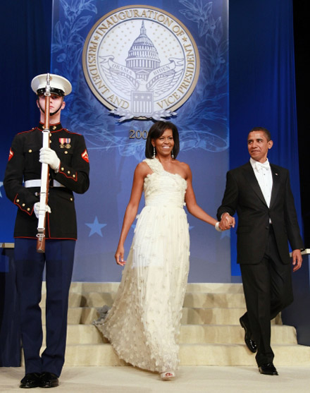 Michelle Obama Barack Obama Inauguration Ball
