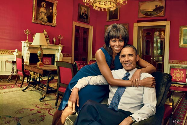 Michelle Obama Barack Obama Vogue US April 2013