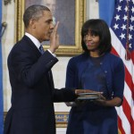 Michelle Obama blue Reed Krakoff dress Swearing In ceremony