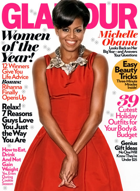 Michelle Obama Glamour Magazine December 2009 cover